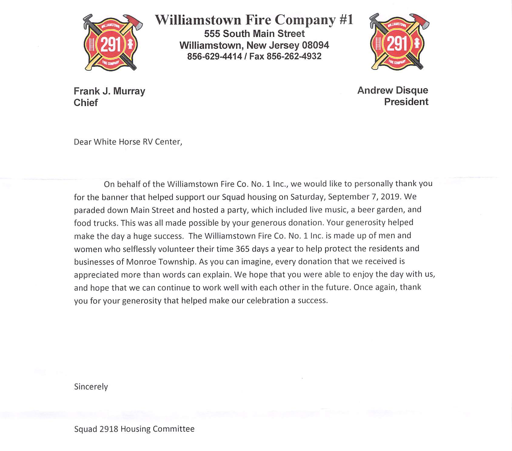 Williamstown Fire Company